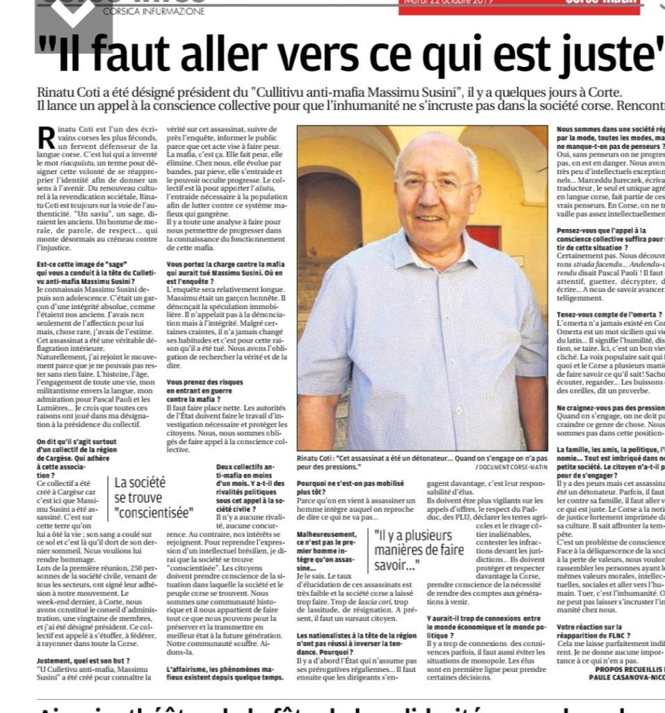 Article du 22 octobre 2019 - Paule Casanova-Nicolaï